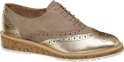 5th Avenue Dandy cipő arany betéttel