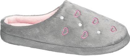 Ladies Heart Stitch Mule Slippers