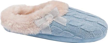 Ladies Knitted Mule Slippers