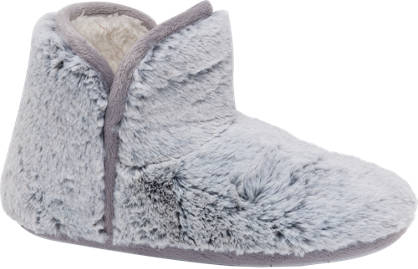 Ladies Plush Bootie Slippers