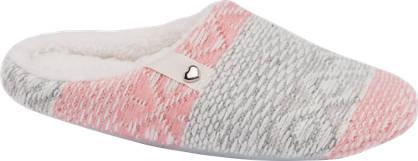 Ladies Soft Knit Mule Slippers