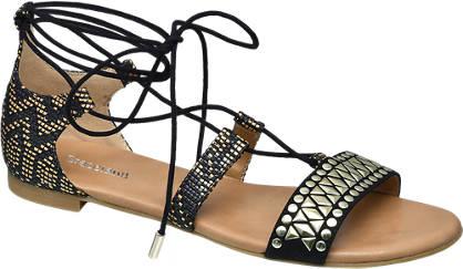 Catwalk Ethno mintás lace up szandál
