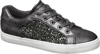 Star Collection Ezüst flitteres sneaker