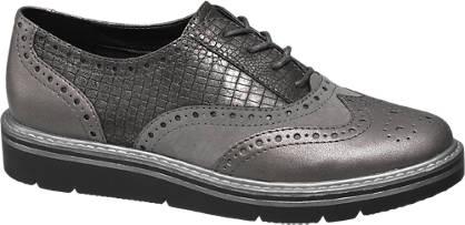 Graceland Ezüst színű dandy cipő