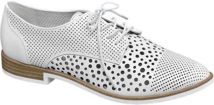 Star Collection Fehér lézervágott dandy cipő