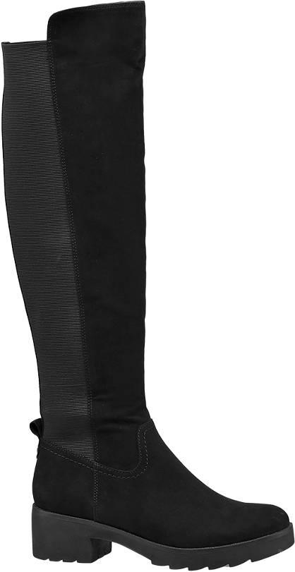 Graceland Fekete hosszúszárú csizma
