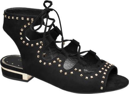 Star Collection Fekete lace up szandál