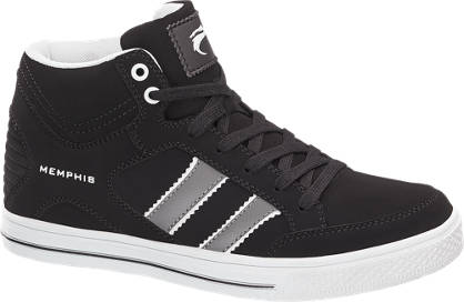 Memphis One Fekete magasszárú sneaker