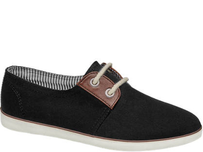 Graceland Fekete vászon sneaker