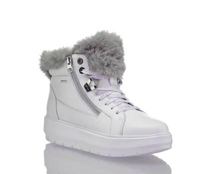 Geox Geox Kaula boot à lacet femmes blanc