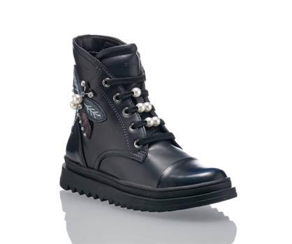 Geox Goex Gilly boot da allacciare bambina nero