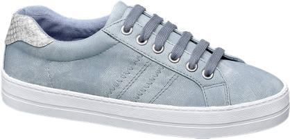 Graceland Blauwe sneaker slangenprint