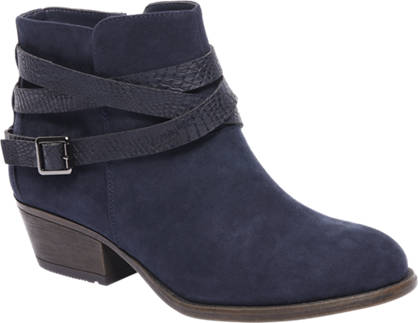 Graceland Blauwe western boot sierbandjes