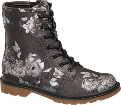 Graceland Floral Lace Up Boot