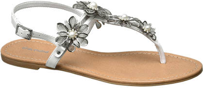 Graceland Flower Embellished Toe-Post Sandals