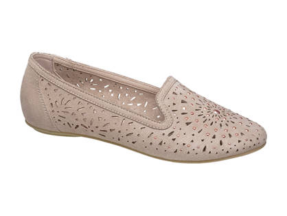 Graceland Girls Laser Cut Loafers