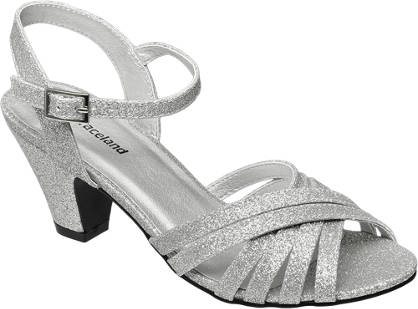 Graceland Heeled Glitter Party Shoe