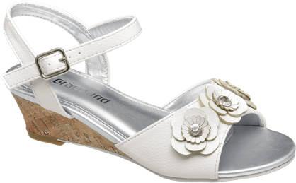 Graceland Flower Wedge Sandal