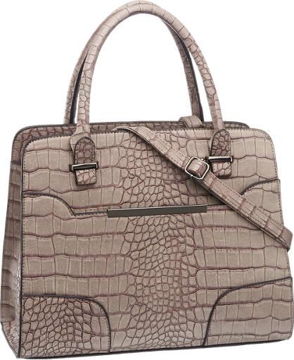 Graceland Grijze handtas met crocoprint