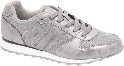 Graceland Grijze sneaker metallic