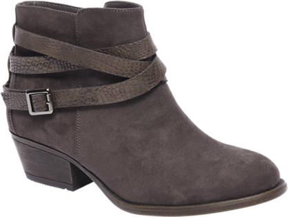Graceland Grijze western boot sierbandjes