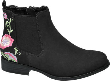 Graceland Junior Girl Embroidered Chelsea Boots