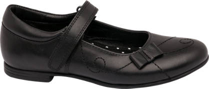 Graceland Junior Girl Leather Bow Detail Bar Shoes