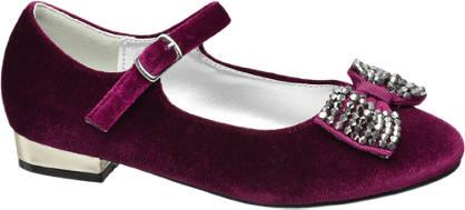 Graceland Junior Girl Velvet Party Shoes