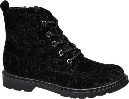 Graceland Junior Girl Patterned Velvet Ankle Boots