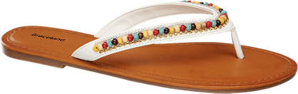 Graceland Beaded Toe-Post Sandals