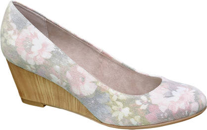 Graceland Floral Wedge Court Shoes