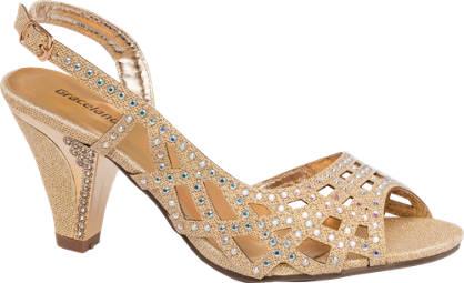 Graceland Slingback Cut Out Diamonte Heel