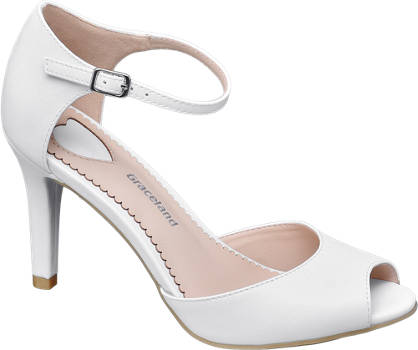 f20b47e11 Shoptagr | Peep Toe Heels by Graceland