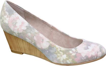 Graceland Roze pump bloemenprint