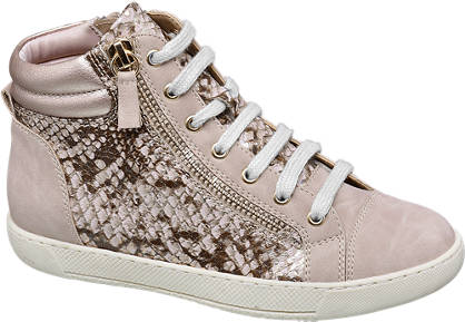 Graceland Roze sneaker slangenprint