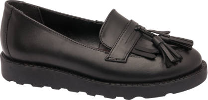 Graceland Teen Girl Leather Chunky Tassel Loafers