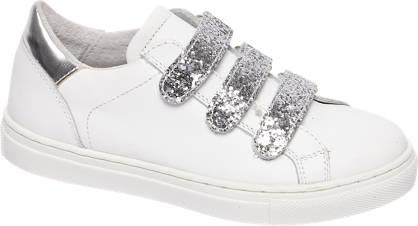Graceland Witte leren sneaker pailletten