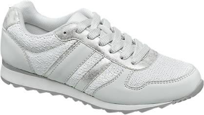 Graceland Witte sneaker metallic