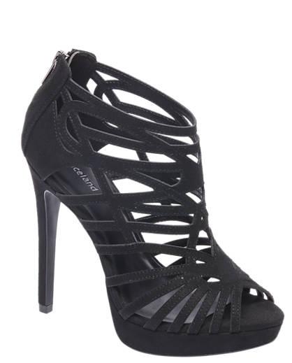 Graceland Zwarte sandalette opengewerkt