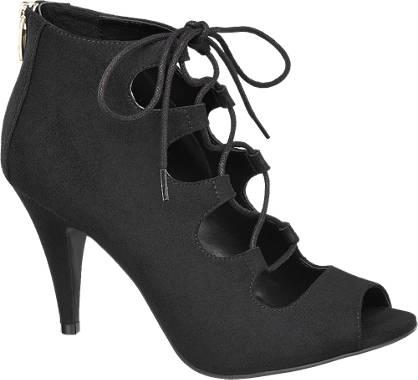 Graceland Zwarte sandalette peeptoe