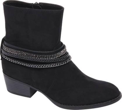 Graceland Zwarte western boot sierbandjes