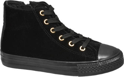 Graceland Junior Girls Lace-up Velvet Hi-tops