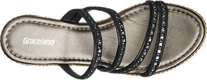 Graceland Keil Pantolette  schwarz