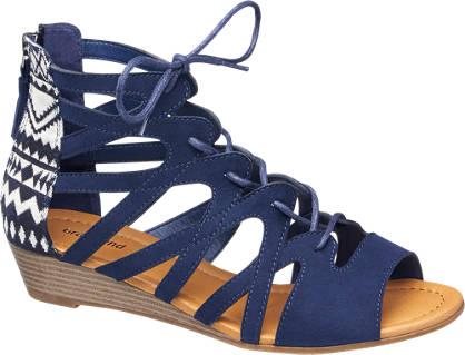 Graceland Keil Sandale blau