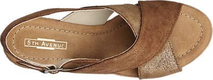 5th Avenue Keil Sandalette  marone