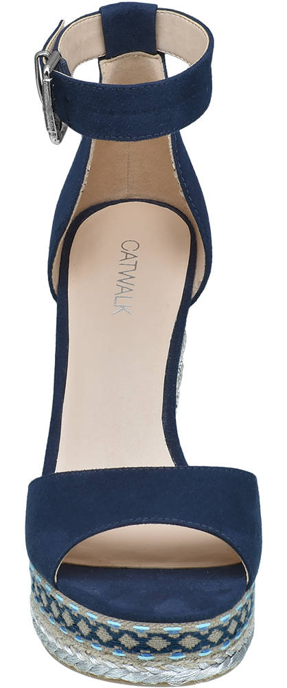 Catwalk Keil Sandalette blau