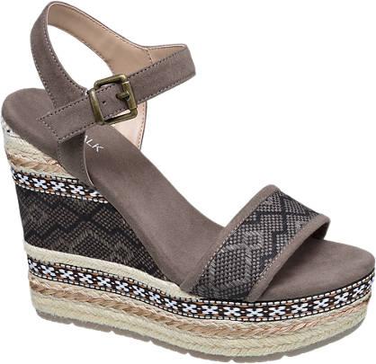 Catwalk Keil Sandalette braun