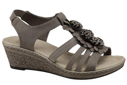 Easy Street Keil Sandalette braun
