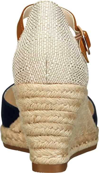 Graceland Keil Sandalette beige, blau
