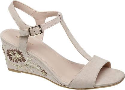 Graceland Keil Sandalette beige